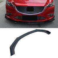 For Mazda 6 2013-2018 3PCS Auto Car Front Bumper Lip Splitter Plate Cover Trim Spoiler Diffuser Deflector Body Kit Canard Guard