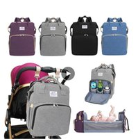 Mommy Crib Bag Multi-Function Diaper Backpack Foldable Oxford Cloth Stroller Nappy Maternity Bags Large Capacity Outdoor Bed