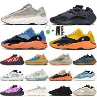 yeezy 700 v2 حذاء رياضي رجالي جديد 700 كاني ويست للركض للنساء أحذية رياضية موجة عداء فوسفور أزرق Oat v2 Azael Vanta Mauve Sports Trainers 36-46