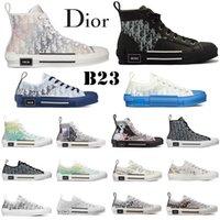 أعلى جودة المصممين الفاخرة عارضة الأحذية B23 منحرف تكنولوجيا قماش المدربين رياضة الرجال النساء أزياء أزواج في الهواء الطلق منصة المدربين أحذية رياضية