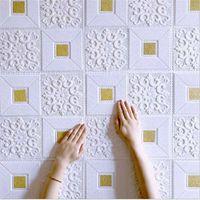 Wallpapers decoração de teto 3d tijolo adesivos de parede sala de estar quarto de tv fundo espuma papel de parede