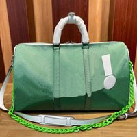 21 Yeni MES Seyahat Çantaları KeepAll Bandouliere 55 Yeşil Sarı Duffel Bagaj Spor Haftası Çanta W9A7 #