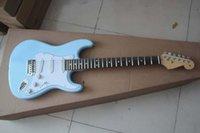 جديد 6 سلسلة fd stratocaster غيتار كهربائي السماء الزرقاء الأصابع القيقب الغيتار