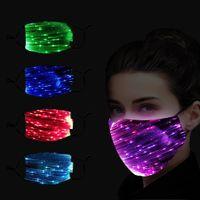 얼굴을위한 패션 LED 마스크 성인 빛나는 s rechargable 7 색 가벼운 생일 댄스 파티 장식 라미