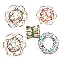 감압 장난감 다양성 꽃 바구니 부드러운 강철 반지 장식 마법의 만다라 루프가 가능한 어린이 장난감