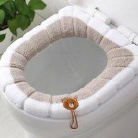 Сиденье для унитаза крышки крышки крышки крышка аксессуары теплые мягкие моющиеся подушки подушки для дома для домашнего декора CloseStool Cat Case