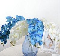 10 adet / grup Gerçekçi Yapay Kelebek Orkide Çiçek Ipek Phalaenopsis Düğün Ev DIY Dekorasyon Sahte Çiçekler 1464 V2