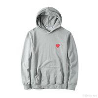 Erkek Tasarımcı Hoodie T Gömlek Kapalı Kırmızı Kalp Beyaz Commes des Pamuk Garcons Casual Rüzgarlık Ceketler Hip Hop Kışlık Mont