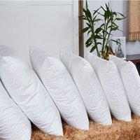 잠자는 침대를위한 흰색 채우는 사각형 목 코튼 베개 필러 부직포 쿠션 코어 내부 가정 장식