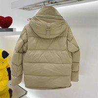 Män Nylon Puffer Down Jacket Lång Avtagbar Ärmdesigner Man Drawcord Hooded Side Zip Pocket Silicone Patch Warm Coat