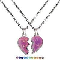 Лучшие продажи пара ангела крылья теплое настроение цвета, меняющееся ожерелье из нержавеющей стали