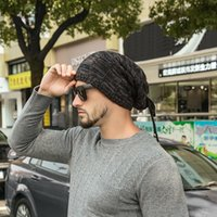 Beanies Hat Scarf Dual Purpose Set Women Autumn Knitted Cap Winter Men Outdoor Windproof Protect Face Neck