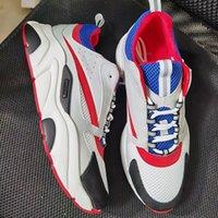 Mann Frau B22 Sneaker Niedrig Top Casual Schuhe Leinwand und Kalbsleder Vintage Trainer Mesh Casual Schuhe Spitz Runner Schuhe Trainer mit Box US5-11.5