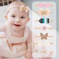 Bebek Kız Ilmek Unicorn Kalp Bantlar Elastik Saç Bantları Tatlı Yürüyor Çocuk Şapkalar Headdress Güzel Huilin BH113