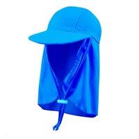 Sun Hat Boys and Girls Niños Niños Verano Deportes al aire libre Perreros solares Lindos Niños Playa Aplicación a prueba de sol Para Bebé Sombreros Sólidos Natación Caps