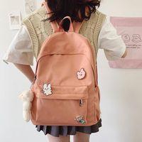 Backpack Female Nylon Harajuku Bag Girl Kawaii College Student Waterproof Ladies Fashion School Book Women Cute Outdoors