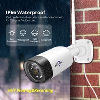 Hiseeu Sem Fio Ao Ar Livre IP Câmera 1536P 1080P Impermeável 3MP CCTV Segurança WiFi de dois sentidos P2P Bullet Hisee Cloud App