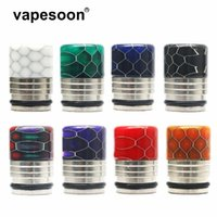VapeSoon001 810 Stainless Steel Resin Drip Tip Snake Style Vape Mouthpiece For IJUST 3 TFV12 Prince etc ePacket Free