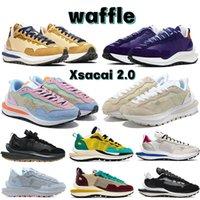 2021 Waffle XSACAI 2.0 Erkek Koşu Ayakkabıları Noir Susam Mavi Void Koyu Iris Yelken Sakız Pastel Üçlü Siyah Beyaz Kahverengi Erkek Kadın Sneakers