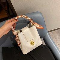 Shoulder Bags 2021 Ladies PU Leather Crocodile Pattern Bucket Hand Bag Women Fashion Yellow Handbags