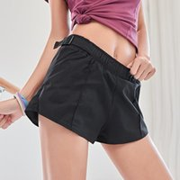 Yoga Outfits Women's Sport Short Solid Gym Workout Waistband Skinny Dancing Tight Fitness Shorts Athletics Sportswear