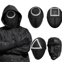 DHL TV Squid Game Cosplay Mask Black Square Circle Triangle Halloween Christmas Masks Full Face Unisex Adult Costume Prop Party Plastic Props Wholesale 2022