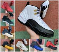 2021 İndirim Tasarımcısı Adam Basketbol Ayakkabıları 12 Bulls CNY Oyunu Royal UNC Üniversitesi Mavi 12 S Ters Grip oyunu Taksi Playoff Mens Açık Sneakers Spor Ayakkabı