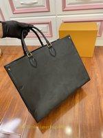 2021 Onthego M44925 M45653 Kadın Lüks Tasarımcılar Çanta Moda Gerçek Deri Çantaları Messenger Crossbody Omuz Çantası Kılıf Çanta Cüzdan Sırt Çantası