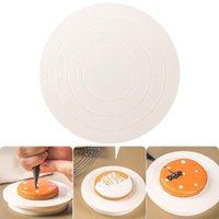 Baking & Pastry Tools DIY Cake Rotary Table Mini Plastic Fondant Turntable Revolving Platform Round Cookie Stand Rotating Home Kitchen Drops