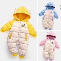 Down Coat Cold Winter Baby Rompers Boy Coats Toddler Kids Hooded Thick Corduroy Outfit Infants Jumpsuit Born Children Costume