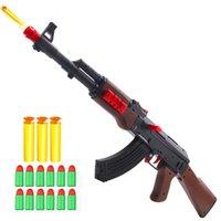 AK47 Manual Мягкая резиновая шариковая пуля игрушечный винтовка Airsoft стрельба пистолет пластиковые оружие модель для детей детей мальчиков подарки силахр