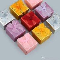 4 * 4 cm Mini joyería Display Color Color Bowknot Anillo Organizador Cajas Anillos Embalaje Caja de almacenamiento Decoración de moda