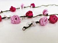 Pendientes Collar Turco Oya Crochet Pink Rose Joyería Conjunto Con Pulseras Naturales Pulsera Auténtica Hecho A Mano Hecha Punto Boho