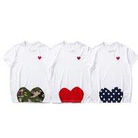 Kadınlar Moda Tees Yaz T-Shirt Bayan Tops Kalp Gözlü Baskı Erkekler T Shirt Kadın Erkek Kız Kazak Kısa Kollu