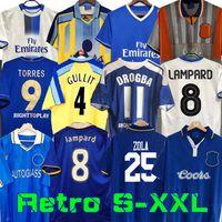 Jersey de football rétro 2011 Lampey Torres Drogba 11 12 13 Finale 94 95 96 97 98 99 Chemises de football Camiseta Crespo Wise 03 05 06 07 08 Cole