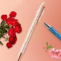 Ballpoint Pens 1pcs Ball Glitter Metal Ballpen Supplies Student Writing For School Stationery 1.0mm Off I8d8