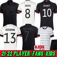 Spieler Fans 2020 2021 2022 Germany Limited Edition Away Blacked-out Fussball Jersey Home Hummels Kroos Draxler Reus Müller Gotze 20 21 22 Frauen Kinder Fußballhemden