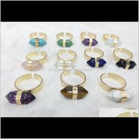 Ring For Women Natural Stone Adjustable Rings Crystal Quartz Gems Anillos Mujer Fashion Jewel qylHDP luckyhat