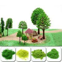 Dekorative Blumen Kränze 30G / Pack Miniaturszene Modell Materia Rasenflock Rasen Nylon Gras Pulver Statisch 3mmModering Hobby-Handwerk Zugang