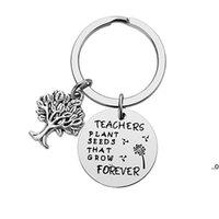 Nuevo llavero de acero inoxidable Pensores colgantes Plant Semillas que cultivan árbol creativo de la vida Decoración de la vida Llavero Día del profesor EWA5996
