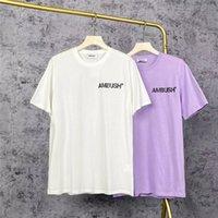 Ambush Tee İlkbahar Yaz Erkekler Kadınlar Pusu T-Shirt Rahat Terry Pamuk Kısa Kollu Harajuku Erkek Giyim Tops