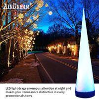 Fabrikpreis-Hochzeits-Party-Dekoration LED-Aufblasbare-Kegel-aufblasbare Klauen-Säule OX-Horn-Lampe für Verkauf