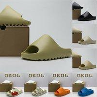 Adidas Yeezy Slides Resin 2021 slove slove slogope sandal dame sandal acoustique eva mousse coureur noire mxt lune gris gris femme femme homme concepteur os designer chaussures