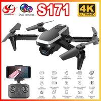 S171 Mini RC-Drohne mit Dual-Kamera 4k HD WiFi FPV Weitwinkel Optische Flow Professionelle faltbare Hubschrauber Quadrocopter Junge Spielzeug