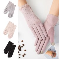 Five Fingers Gloves Fashion Women Breathable Anti-UV Anti-skid Full Finger Touch Screen Summer Outdoor Cycling