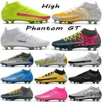 Homens Alta Corte Phantom Gt Scorpion Elite Dinâmico Fit Fit Soccer Sapatos Masculinos Lace-Up Sport Futebol Botas Menino Ao Ar Livre Sneaker Tamanho Euro39-45