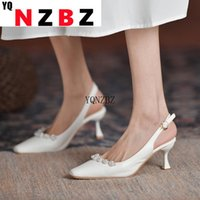 Sandals Low Woman Leather 2021 Summer Med Shoes Closed Toe Suit Female Beige High Heels Low-heeled Comfort Medium Black Fashion