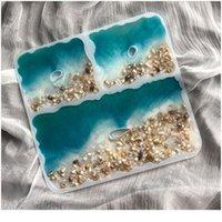 DIY Unregelmäßige Square Coaster Epoxy Sile Form Für Casting Coaster Mold Schmuckherstellung Werkzeuge DIY I BBYWQV