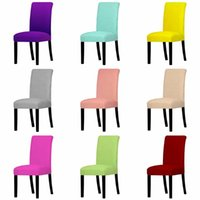 Chair Covers Solid Color Universal Cover Spandex Stretch Elastic Seat For Dining Room El Wedding Banquet