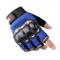 Táctico al aire libre entrenamiento de montañismo fitness medio dedo guantes verano ciclismo motocicleta pantalla táctil completo